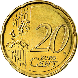 Luxembourg, 20 Euro Cent, 2014, SPL, Laiton