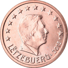 Luxembourg, 2 Euro Cent, 2013, SPL, Copper Plated Steel, KM:New