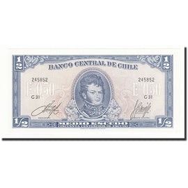 Billet, Chile, 1/2 Escudo, Undated, KM:134Aa, NEUF
