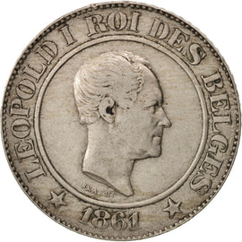 Belgique, Leopold I, 20 Centimes, 1861, TTB, Copper-nickel, KM:20