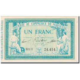 France, Marseille, 1 Francs, 1915, Chambre de Commerce, SUP, Pirot:79-49