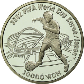 Monnaie, KOREA-SOUTH, FIFA 2002, 10000 Won, 2001, Seoul, Proof, FDC, Argent