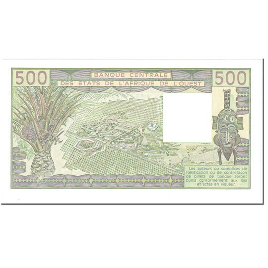 Billet, West African States, 500 Francs, 1983, Undated (1983), KM:706Kf, NEUF