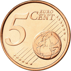 Chypre, 5 Euro Cent, 2008, FDC, Copper Plated Steel, KM:80