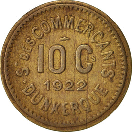 France, 10 Centimes, 1922, Brass, Elie:10.8