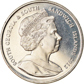 Monnaie, South Georgia and the South Sandwich Islands, 2 Pounds, 2012, Manchot