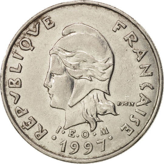 French Polynesia, 10 Francs, 1997, Paris, TTB+, Nickel, KM:8