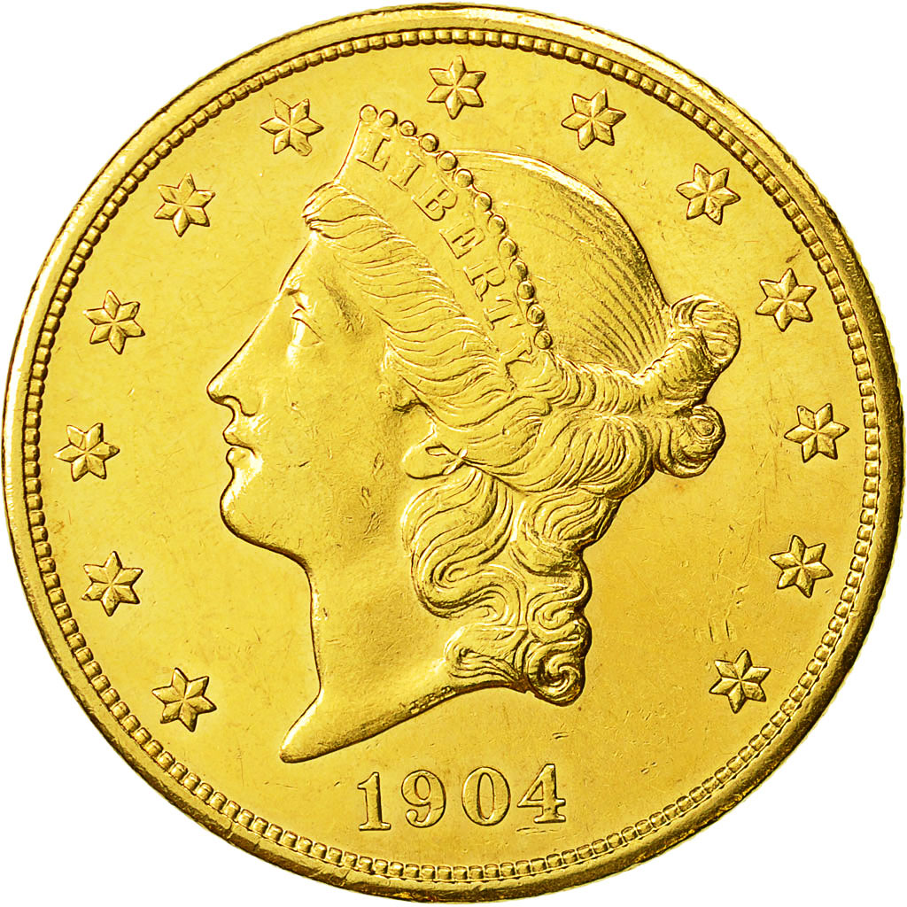 Monnaie, États-Unis, Liberty Head, $20, Double Eagle, 1904, U.S. Mint