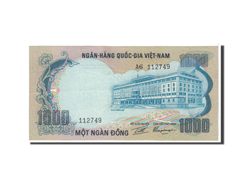Billet, South Viet Nam, 1000 D<ox>ng, 1972, Undated, KM:34a, SPL