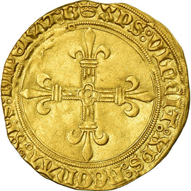 Monnaie, France, Charles VIII, Ecu d'or, Bourges, SUP, Or, Duplessy:575