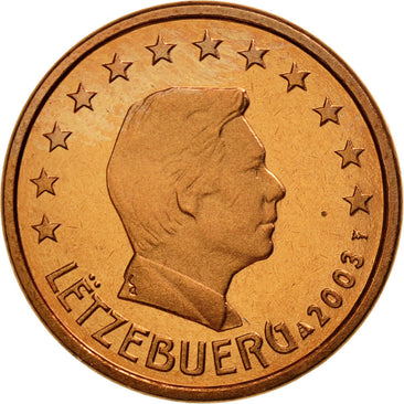 Luxembourg, Euro Cent, 2003, FDC, Copper Plated Steel, KM:75