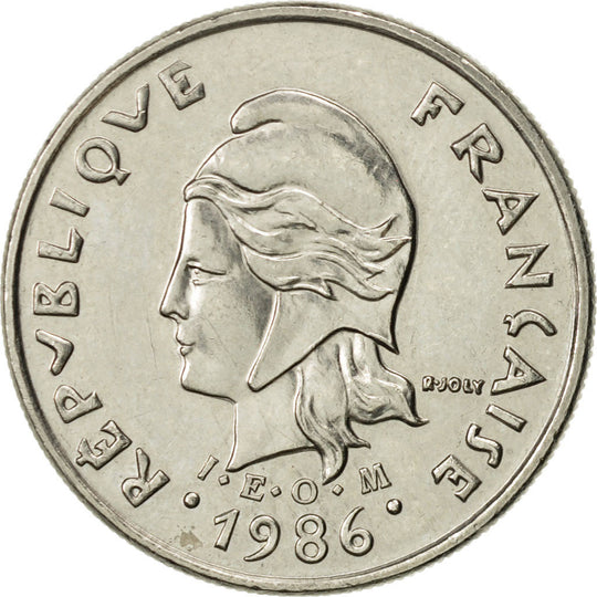 French Polynesia, 10 Francs, 1986, Paris, SUP, Nickel, KM:8