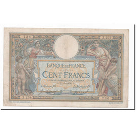 France, 100 Francs, Luc Olivier Merson, 1908, 21-05-1908, TB, Fayette:22.1
