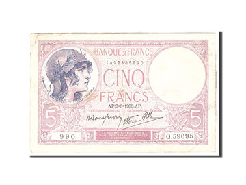 Billet, France, 5 Francs, 1939, 1939-08-03, TTB, Fayette:4.4, KM:83