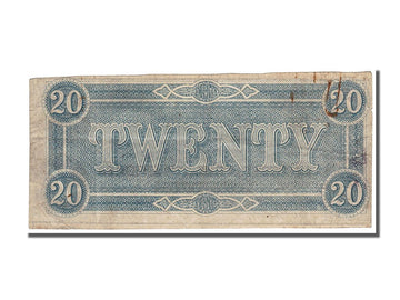 Billet, Confederate States of America, 20 Dollars, 1864, 1864-02-17, TTB+