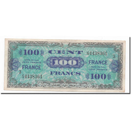 France, 100 Francs, 1945 Verso France, 1944, Série 3, TTB+, Fayette:VF25.03