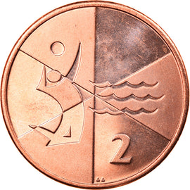 Monnaie, Gibraltar, Island games, 2 Pence, 2019, SPL, Copper Plated Steel