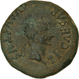 Monnaie, Spain, Tibère, As, 14-37 AD, Turiaso, TTB, Bronze, RPC:423