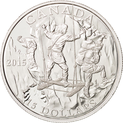 Canada, Wild River Exploration, 15 Dollars, 2015, Argent