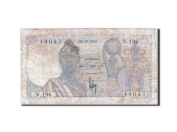 Afrique Occidentale, 5 Francs, type 1943-1948