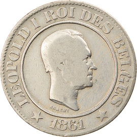 Monnaie, Belgique, Leopold I, 20 Centimes, 1861, TB, Copper-nickel, KM:20
