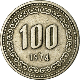 Monnaie, KOREA-SOUTH, 100 Won, 1974, TB+, Copper-nickel, KM:9