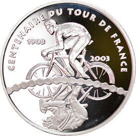 France, 1-1/2 Euro, Tour de France - 100 ans de Tour, 2003, Paris, Proof, FDC