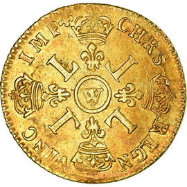 Monnaie, France, Louis XIV, Louis d'or aux 4 L, Louis d'Or, 1700, Lille, TTB
