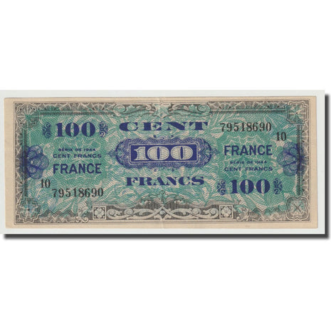 France, 100 Francs, 1945 Verso France, 1945, SUP, Fayette:25.10, KM:123e