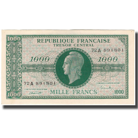 France, 1000 Francs, Marianne, 1945, SUP, Fayette:VF 12.1, KM:107