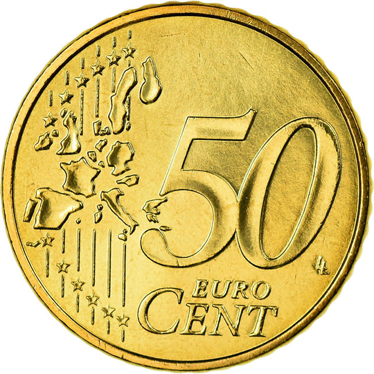 France, 50 Euro Cent, 2002, FDC, Laiton, KM:1287