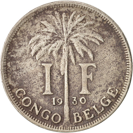 Congo belge, Franc, 1930, TB+, Copper-nickel, KM:20