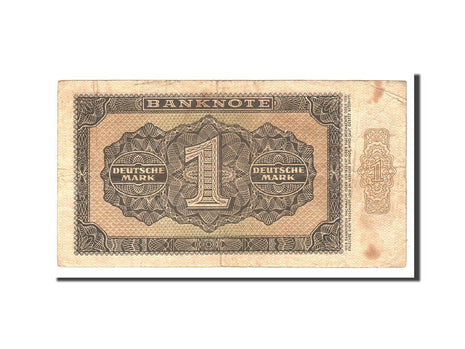 République démocratique allemande, 1 Deutsche Mark, 1948, KM:9b, Undated, TB
