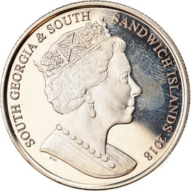 Monnaie, South Georgia and the South Sandwich Islands, 2 Pounds, 2018, Jubilé