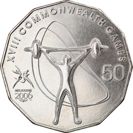 Monnaie, Australie, 50 Cents, 2006, Weightlifting, SUP, Copper-nickel, KM:773