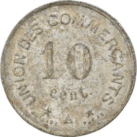 Monnaie, France, Union des Commerçants, Carcassonne, 10 Centimes, 1917, TTB