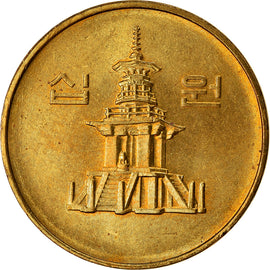 Monnaie, KOREA-SOUTH, 10 Won, 1994, TTB, Laiton, KM:33.1