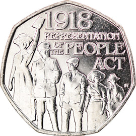Monnaie, Gibraltar, 50 Pence, 2018, People Act, SPL, Copper-nickel