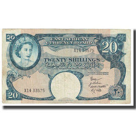 Billet, EAST AFRICA, 20 Shillings, KM:43a, TTB