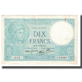 France, 10 Francs, 1941, P. Rousseau and R. Favre-Gilly, 1941-01-09, SUP