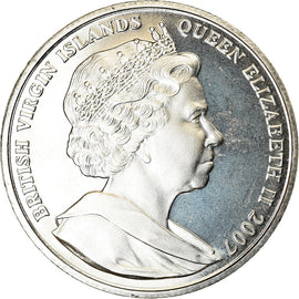 Monnaie, BRITISH VIRGIN ISLANDS, Dollar, 2007, Franklin Mint, Mère Teresa et