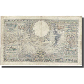 Billet, Belgique, 100 Francs-20 Belgas, Undated (1938), KM:107, B