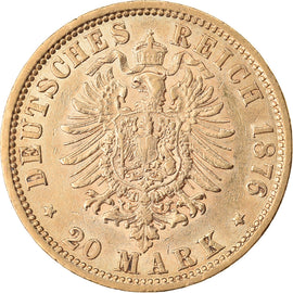 Monnaie, Etats allemands, HAMBURG, 20 Mark, 1876, Hamburg, SUP, Or, KM:602