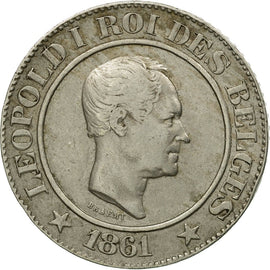 Monnaie, Belgique, Leopold I, 20 Centimes, 1861, TTB, Copper-nickel, KM:20