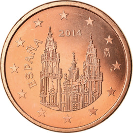 Espagne, 5 Euro Cent, 2014, SPL, Copper Plated Steel