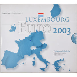 Luxembourg, 1 Cent to 2 Euro, 2003, BU, FDC