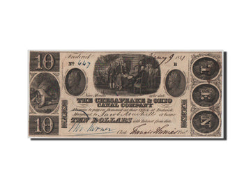 Etats-Unis, Obsolètes, Ohio, Chesapeak Company, 10 Dollars 9.1.1841