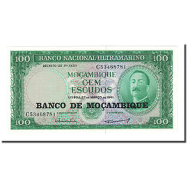 Billet, Mozambique, 100 Escudos, Undated (1976), KM:117a, NEUF