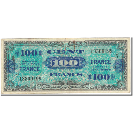 France, 100 Francs, 1945 Verso France, 1944, SERIE DE 1944, B, Fayette:VF25.5