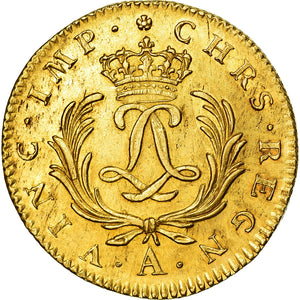 Monnaie, France, Louis XV, Double louis d'or Mirliton, 1723, Paris, SPL